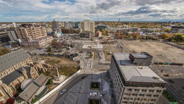 Christchurch cbd aerial video shows 39 little progress for Landscape contractors christchurch