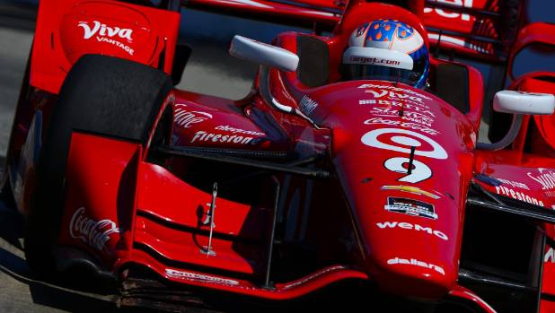 Kiwi Scott Dixon was 10th at the Grand Prix of Indianapolis on Sunday (NZ time) after being a victim of an early accident.