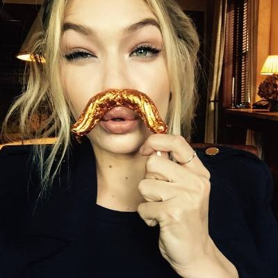 Gigi Hadid, 20 shows off the art of the kooky selfie (which is practically trademarked by Cara D at this point). This ...