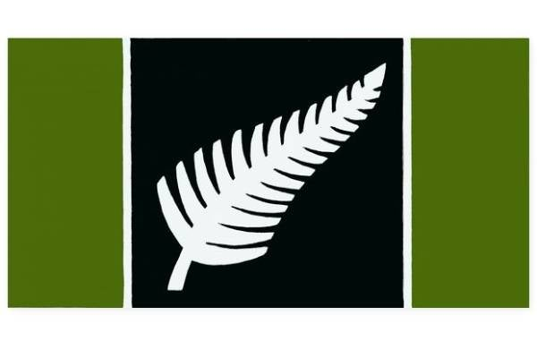 Fern flag by Dick Frizzell of Auckland.