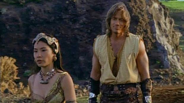 Lucy Liu as she appeared in Xena with Kevin Sorbo