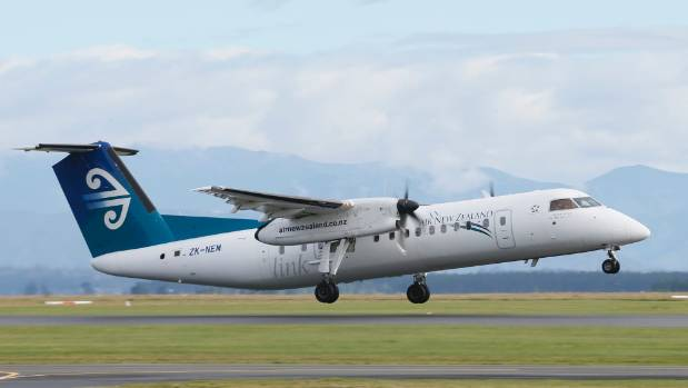 Air New Zealand introduced Q300 airplanes on routes between Timaru and Wellington in April this year.
