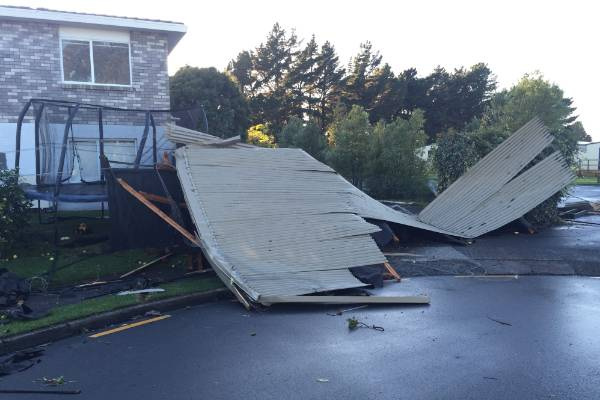 There were reports of over 20 houses with roofs lifted off following the tornado.