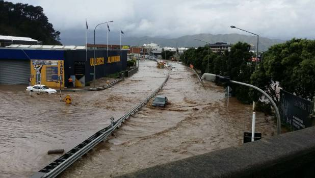 Flooding in Petone in May followed a one in 100-year downpour.