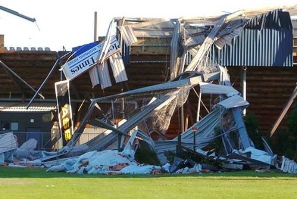Damage in the wake of the tornado that ripped through Mt Maunganui.