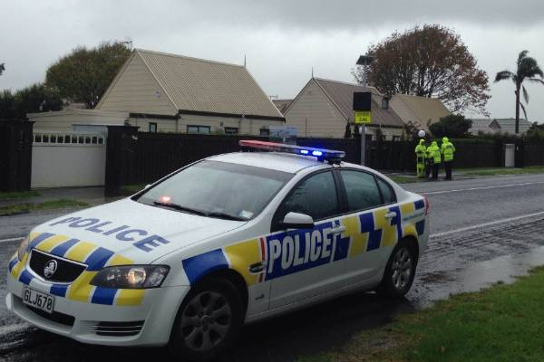 Police at the scene where a 5-year-old boy was hit by a car in Takanini, South Auckland.