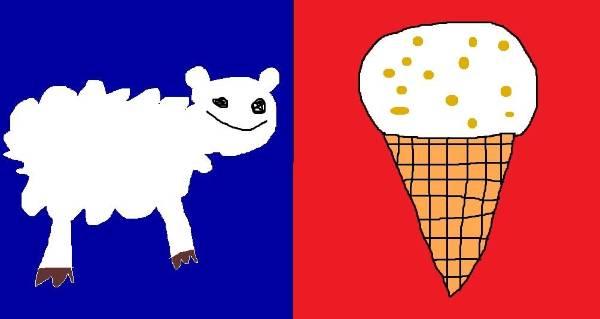jesse gibbs poked fun at kiwiana with his sheep and hokey pokey flag design - Flag Design Ideas