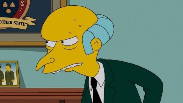 Mr Burns may be sounding a little different soon.