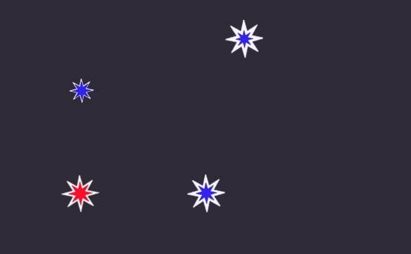 Nelson Based Artist Tao Wells Used Actual Colours Of The Southern Cross  Stars, As