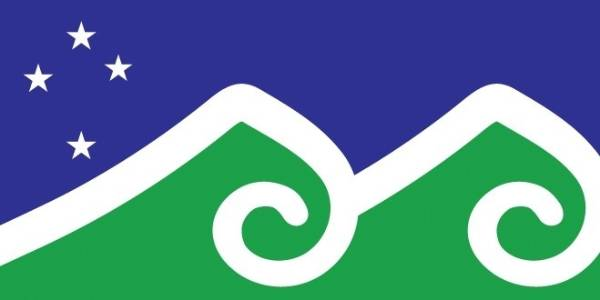 "Melissa Hinves, from Otago, submitted several flag designs including ""from the southern mountains to the northern sea""."