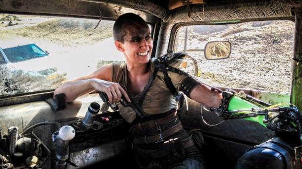Dayna Grant on the set of Mad Max: Fury Road.