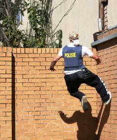Kiwi stunt performer Dane Grant performing parkour.