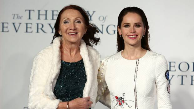 "Jane Hawking and Felicity Jones attend the UK Premiere of ""The Theory Of Everything"""