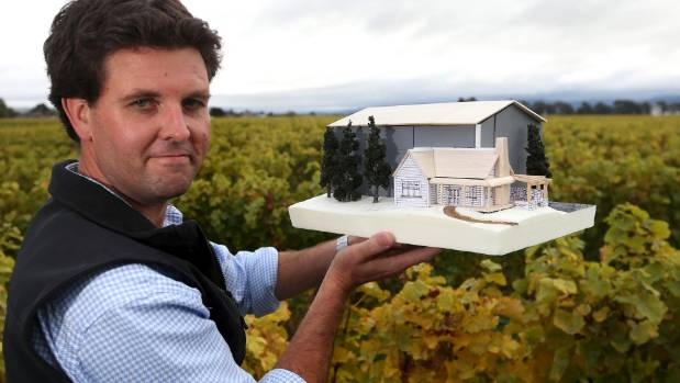 Jackson Estate managing director Jeff Hart pictured with a model of their new boutique winery on Jacksons Rd.