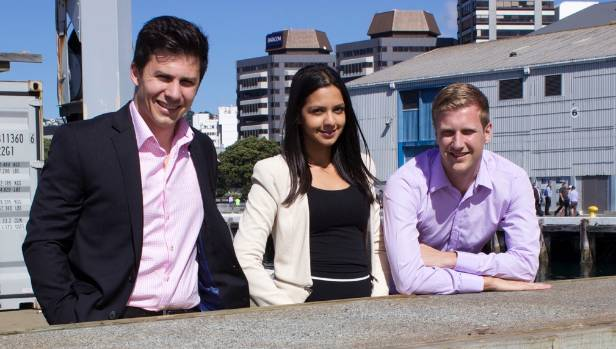 David Loveridge, left, Anika Rani and Tom Brown, launched Quenched in Wellington last week, with the aim of delivering ...