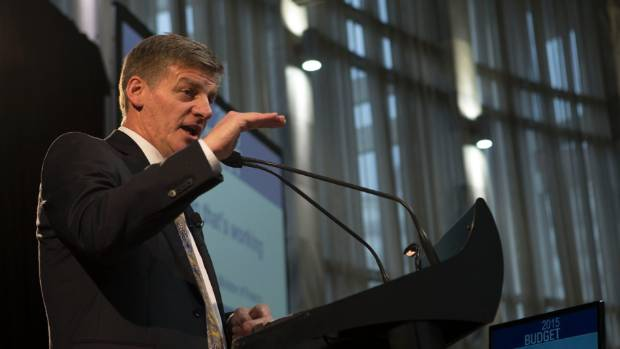 Bill English delivers the Budget 2015.