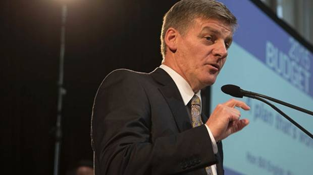 "Finance Minister Bill English announcing his ""hardship"" Budget."