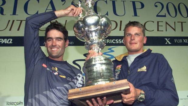 Sir Russell Coutts and Dean Barker have a long America's Cup history, including winning the 2000 edition with Team New ...