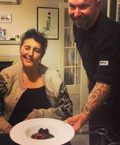 Lecretia Seales is an acclaimed cook and was treated to chef Sam Pope making a five-course meal for her at home.
