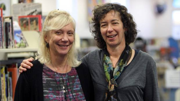 Ronald Hugh Morrieson Award judges Mandy Hager, left, and Sue Wootton, right,  ran several workshops at South and ...
