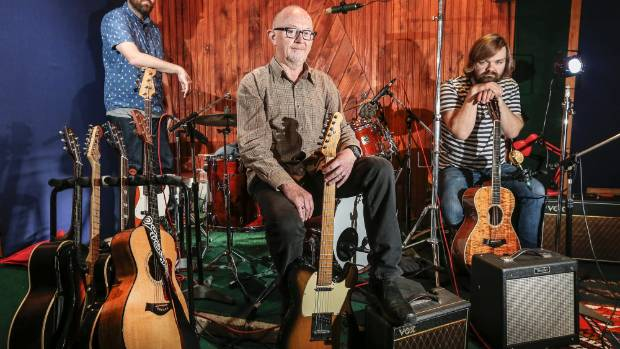 Dave Dobbyn (middle) is back in the recording studio with Phoenix Foundation members Samuel Flynn Scott (left) and Luke ...