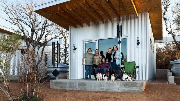 This group of friends have built their own compound on a block of land they bought together.