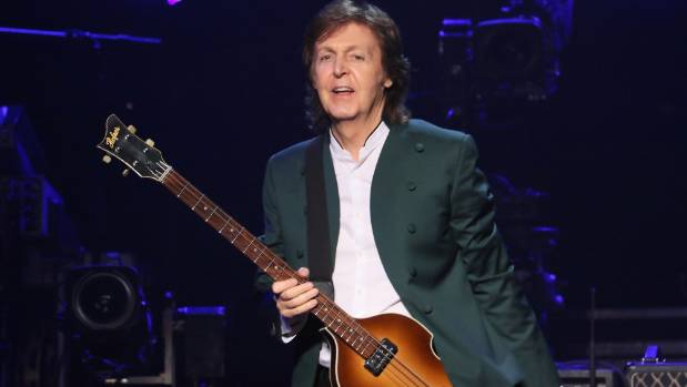 Sir Paul McCartney plays the guitar left-handed, sparking initial rumours of a New Zealand and Australian tour.