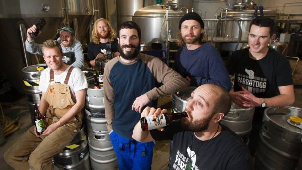 ParrotDog brewery was awarded champion international brewery at the Australian Beer Awards. Celebrating from left, Elvin ...