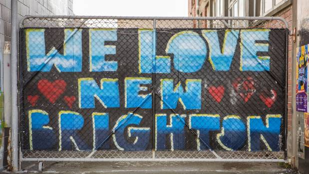 Community pride on display on New Brighton.
