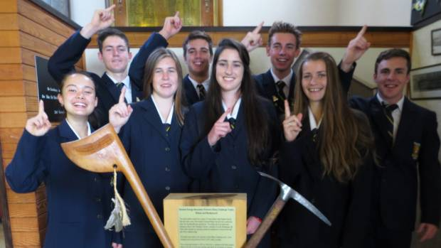 The Thames High School Hillary Challenge team are absolutely buzzing after winning the final last week. From left, ...