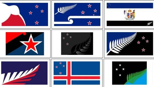 Silver fern prominent in popular flag options .