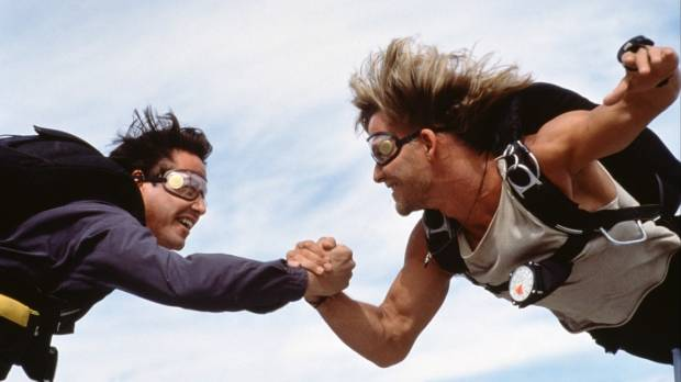 The original Point Break planting the skydiving seed for many of us...