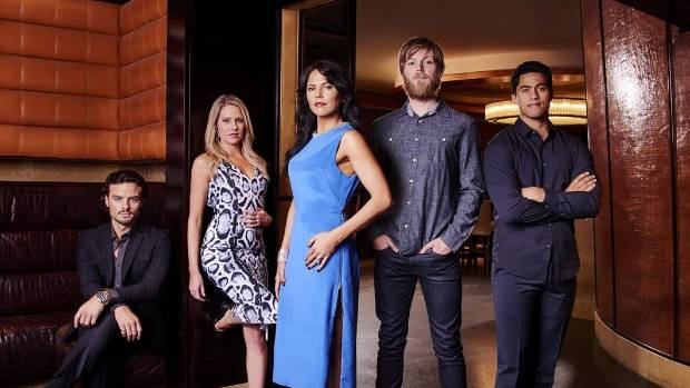 The newly-announced cast of TV2's new drama, Filthy Rich. From left: John Jnr (Josh McKenzie), Savannah (Emma Fenton), ...