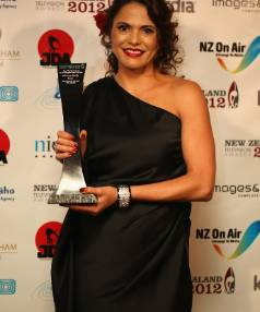 Kiwi actress Miriama Smith, seen here posing with her award for Best Performance by a Supporting Actress during the 2012 ...
