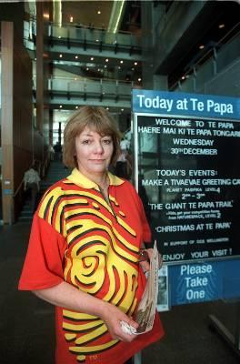 Te Papa chief executive Cheryll Sotheran in 2001.