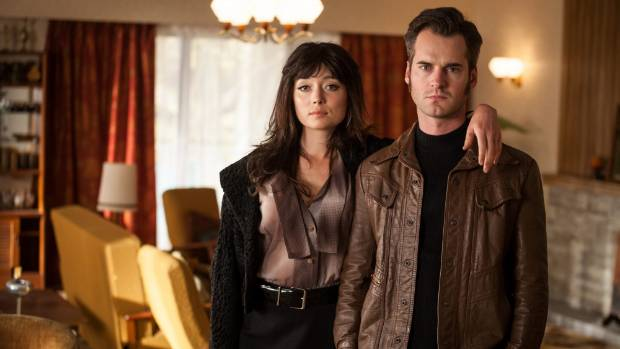 Antonia Prebble as Rita West and David De Lautour as Ted West in Outrageous Fortune prequel Westside.