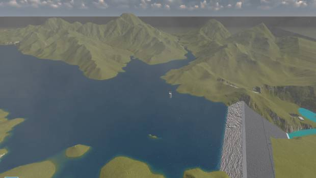 A screenshot from an animated video of the proposed Ruataniwha dam in Central Hawke's Bay.