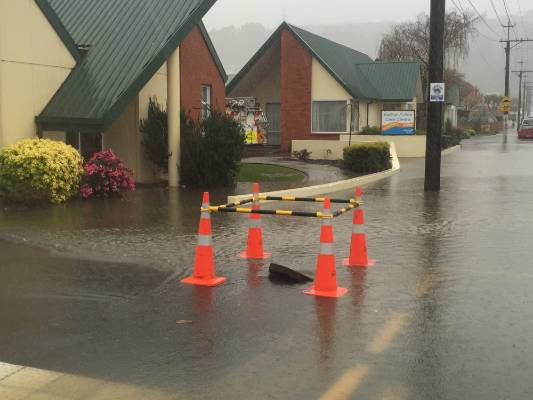 Flooding in Dunedin.