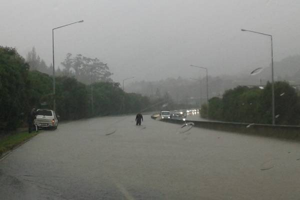 NZTA sent us this picture of the northbound lanes of SH1 at Green Island, near Dunedin.