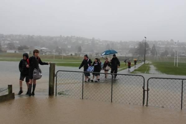 Flooding in Bishopscourt, Dunedin.