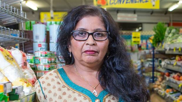 Manjula Patel at her old store, also in Wellington's Aro Valley, in 2015. (FILE PHOTO)