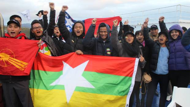 Burmese refugees from Nelson travelled to the Myanmar versus New Zealand Fifa U-20 World Cup game at Wellington Regional ...