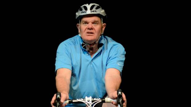 Mark Hadlow stars as the middle aged man in lycra
