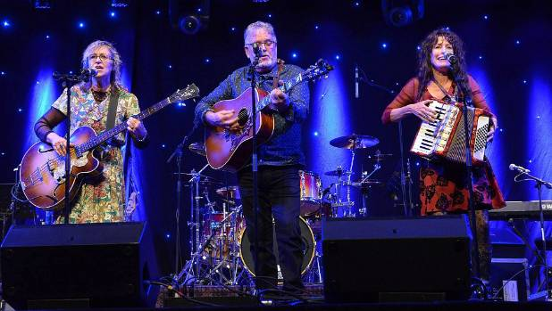 Kapiti band Legal Tender, from left, Moira Howard-Campbell, Ian Campbell, and Carylann Martin, performing at the Golden ...