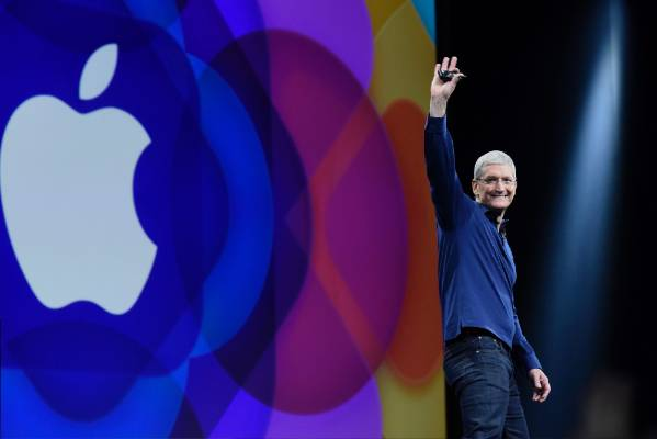 Apple CEO Tim Cook takes to the main stage at the World Wide Developers Conference.