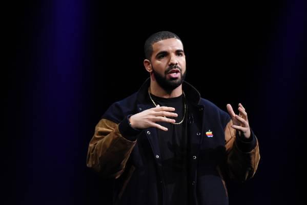 Drake addresses the Apple World Wide Developers Conference in San Francisco.