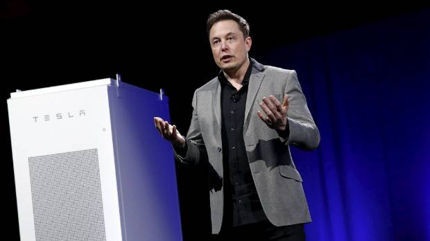"""Elon Musk reveals a Tesla Energy battery. Nocera is """"all for"""" the technology but says it won't save the planet because ..."""