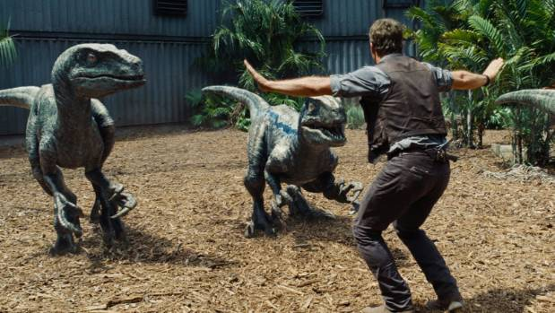 Chris Pratt in his Jurassic World pose that has become a hit with zookeepers around the world.