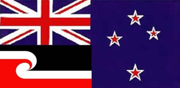 Combined Union Jack and Te Tino Rangatiratanga on Southern Cross, by Michael Sampson from Canterbury, is one of more ...