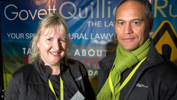 Farming consultant Margaret Steiner-Joyce, left, and associate Troy Wano of Govett Quilliam lawyers were surprised by ...